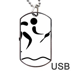 Assault Course Pictogram Dog Tag Usb Flash (one Side) by abbeyz71