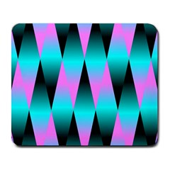 Shiny Decorative Geometric Aqua Large Mousepads by Amaryn4rt