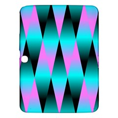 Shiny Decorative Geometric Aqua Samsung Galaxy Tab 3 (10 1 ) P5200 Hardshell Case