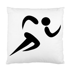 Athletics Pictogram Standard Cushion Case (two Sides) by abbeyz71