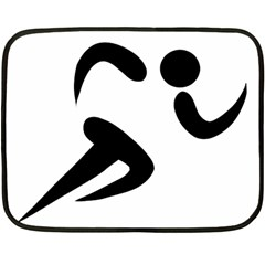 Athletics Pictogram Double Sided Fleece Blanket (mini)  by abbeyz71