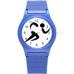 Athletics Pictogram Round Plastic Sport Watch (s)