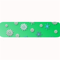 Snowflakes Winter Christmas Overlay Large Bar Mats
