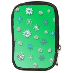 Snowflakes Winter Christmas Overlay Compact Camera Cases by Amaryn4rt
