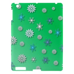 Snowflakes Winter Christmas Overlay Apple Ipad 3/4 Hardshell Case by Amaryn4rt