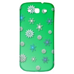 Snowflakes Winter Christmas Overlay Samsung Galaxy S3 S Iii Classic Hardshell Back Case by Amaryn4rt