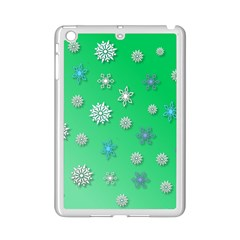 Snowflakes Winter Christmas Overlay Ipad Mini 2 Enamel Coated Cases by Amaryn4rt