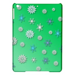Snowflakes Winter Christmas Overlay Ipad Air Hardshell Cases by Amaryn4rt