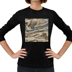 Rock Texture Background Stone Women s Long Sleeve Dark T Shirts by Amaryn4rt