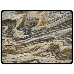 Rock Texture Background Stone Double Sided Fleece Blanket (large)  by Amaryn4rt