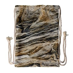 Rock Texture Background Stone Drawstring Bag (large)