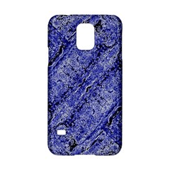 Texture Blue Neon Brick Diagonal Samsung Galaxy S5 Hardshell Case  by Amaryn4rt