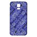 Texture Blue Neon Brick Diagonal Samsung Galaxy S5 Back Case (White) Front