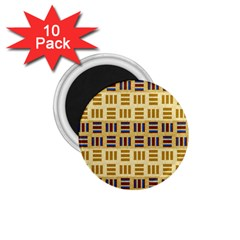 Textile Texture Fabric Material 1 75  Magnets (10 Pack)  by Amaryn4rt