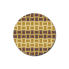Textile Texture Fabric Material Rubber Coaster (round)  by Amaryn4rt