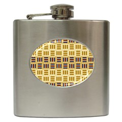 Textile Texture Fabric Material Hip Flask (6 Oz)