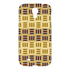 Textile Texture Fabric Material Samsung Galaxy S4 I9500/i9505 Hardshell Case by Amaryn4rt