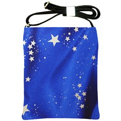 The Substance Blue Fabric Stars Shoulder Sling Bags by Amaryn4rt