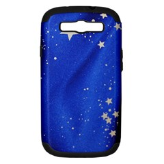 The Substance Blue Fabric Stars Samsung Galaxy S Iii Hardshell Case (pc+silicone)
