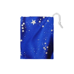 The Substance Blue Fabric Stars Drawstring Pouches (small)  by Amaryn4rt