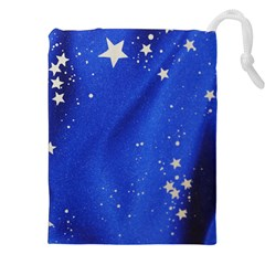 The Substance Blue Fabric Stars Drawstring Pouches (xxl) by Amaryn4rt