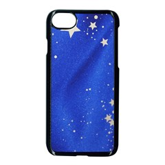 The Substance Blue Fabric Stars Apple Iphone 7 Seamless Case (black) by Amaryn4rt