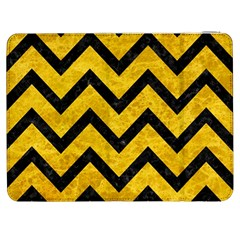 Chevron9 Black Marble & Yellow Marble (r) Samsung Galaxy Tab 7  P1000 Flip Case by trendistuff