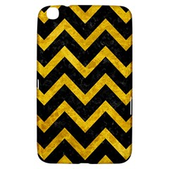 Chevron9 Black Marble & Yellow Marble Samsung Galaxy Tab 3 (8 ) T3100 Hardshell Case  by trendistuff