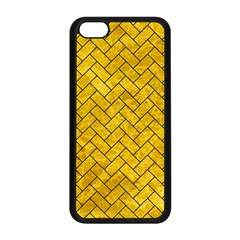 Brick2 Black Marble & Yellow Marble (r) Apple Iphone 5c Seamless Case (black)