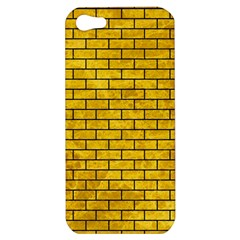 Brick1 Black Marble & Yellow Marble (r) Apple Iphone 5 Hardshell Case by trendistuff