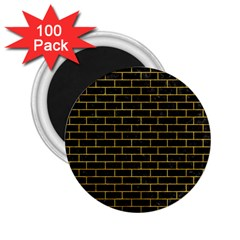 Brick1 Black Marble & Yellow Marble 2 25  Magnet (100 Pack)