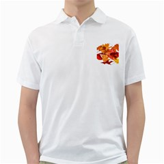 Autumn Leaves Leaf Transparent Golf Shirts by Amaryn4rt