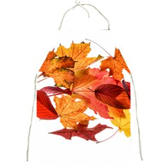 Autumn Leaves Leaf Transparent Full Print Aprons by Amaryn4rt