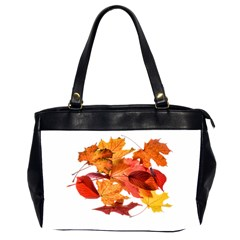 Autumn Leaves Leaf Transparent Office Handbags (2 Sides)  by Amaryn4rt