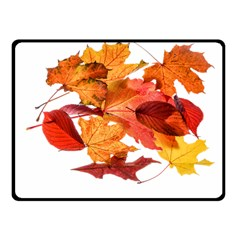 Autumn Leaves Leaf Transparent Fleece Blanket (small) by Amaryn4rt