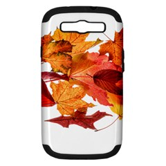Autumn Leaves Leaf Transparent Samsung Galaxy S Iii Hardshell Case (pc+silicone) by Amaryn4rt