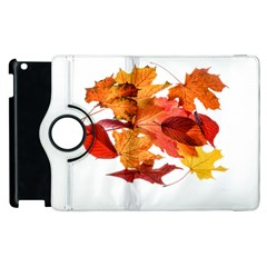 Autumn Leaves Leaf Transparent Apple Ipad 2 Flip 360 Case by Amaryn4rt
