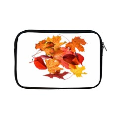 Autumn Leaves Leaf Transparent Apple Ipad Mini Zipper Cases by Amaryn4rt
