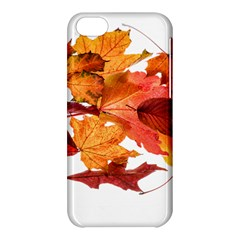 Autumn Leaves Leaf Transparent Apple Iphone 5c Hardshell Case by Amaryn4rt