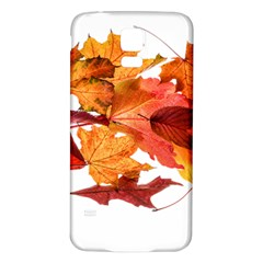 Autumn Leaves Leaf Transparent Samsung Galaxy S5 Back Case (white) by Amaryn4rt