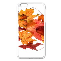Autumn Leaves Leaf Transparent Apple Iphone 6 Plus/6s Plus Enamel White Case by Amaryn4rt
