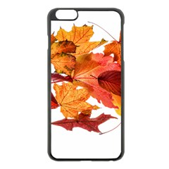 Autumn Leaves Leaf Transparent Apple Iphone 6 Plus/6s Plus Black Enamel Case by Amaryn4rt