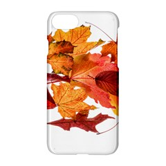 Autumn Leaves Leaf Transparent Apple Iphone 7 Hardshell Case by Amaryn4rt
