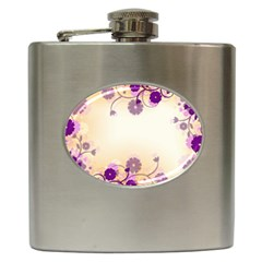 Background Floral Background Hip Flask (6 Oz) by Amaryn4rt
