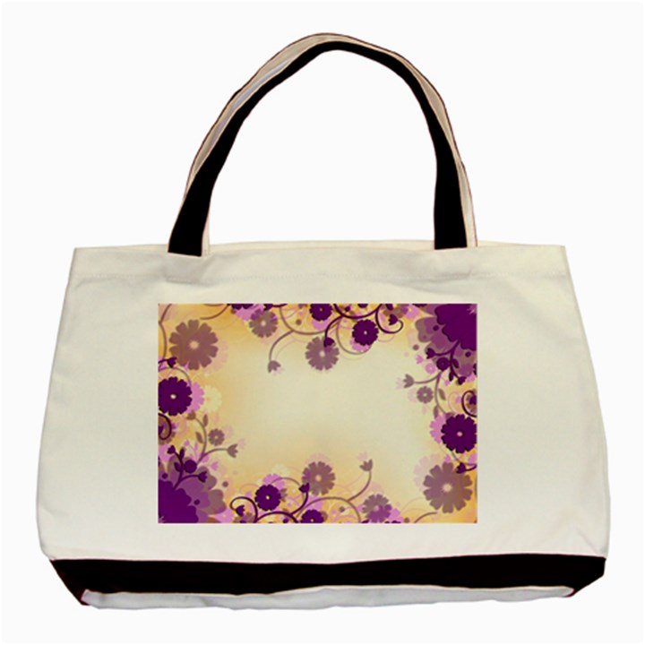 Background Floral Background Basic Tote Bag