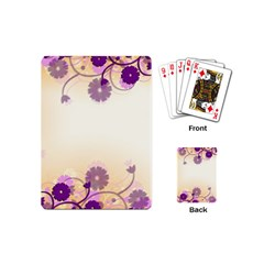 Background Floral Background Playing Cards (mini)  by Amaryn4rt