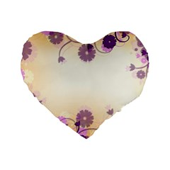 Background Floral Background Standard 16  Premium Heart Shape Cushions