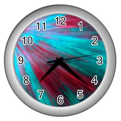 Background Texture Pattern Design Wall Clocks (silver)  by Amaryn4rt