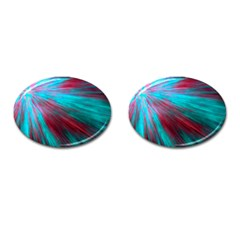 Background Texture Pattern Design Cufflinks (oval)