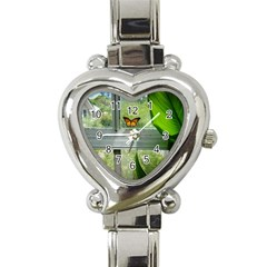 Butterfly #17 Heart Italian Charm Watch by litimages